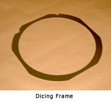 Products Dicing Frame