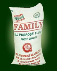 Flour from durum wheat flour for baking