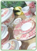 Tableware Pink Petals