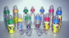 Polyethylene Bottles of Baby Food