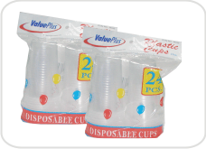 Plastic Cups 12 Oz, 24's