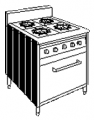 Four Burner Stove Gas