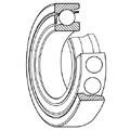 Single-row angular contact ball bearings