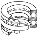 Double-Direction Thrust ball bearings