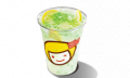 Lemon Honey with Seaweed Jelly drink