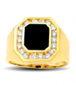 Asscher-shaped Stone with CZs Ring