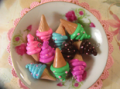 Ice Cream One Tone Charm 4pcs - Assorted
