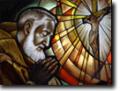 Stained Glass Windows in Churches Padre Pio parish, Glenmore Park, NSW, Australia