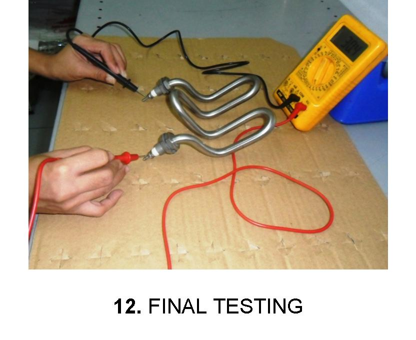 Order Final Testing Adjustment