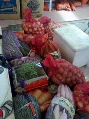 Delivery of fruit and vegetables.